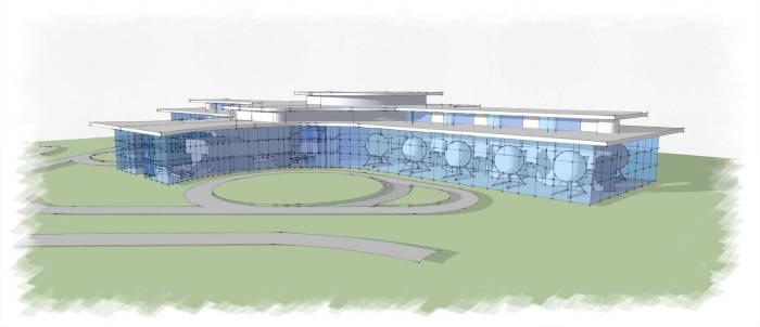 Aviation Partners - Illustrative Design Development of HeliAcademy - Sideview