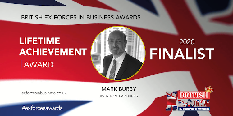 Captain Mark Burby, Aviation Partners - British Ex-Forces in Business Lifetime Achievement Award 2020 Finalist